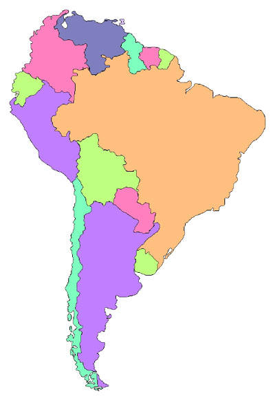 south america map clipart - photo #8