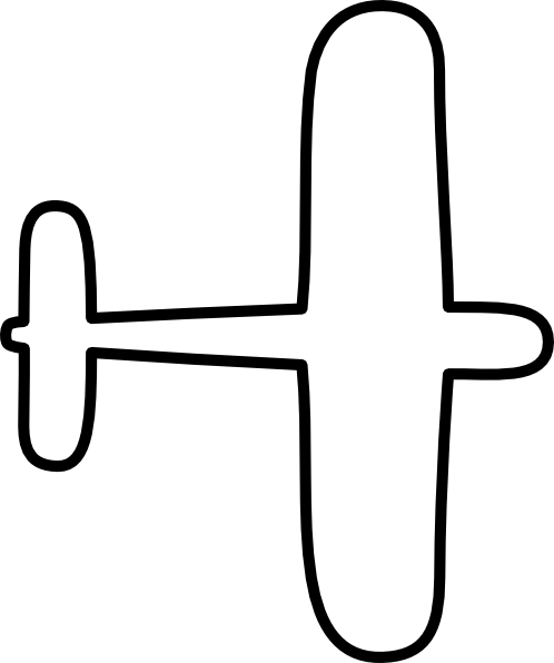 Cartoon airplane stencil clipart best for Airplane cut out template