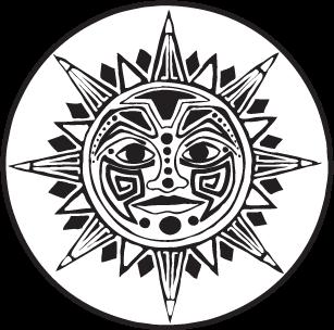 Aztec sun jedigems clipart best clipart best for Aztec gods coloring pages