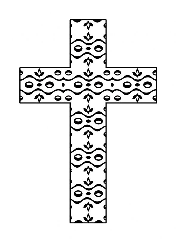hard cross coloring pages | Free Printable Crosses - ClipArt Best