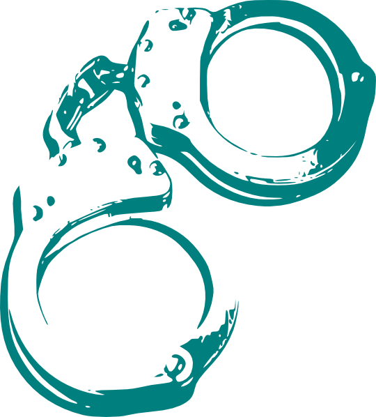 Crime Clipart Green handcuffs crime clip art