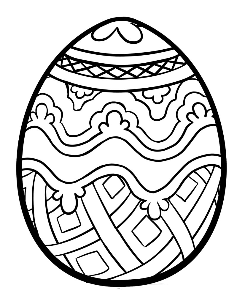 Line Drawing Egg : Easter egg drawing clipart best