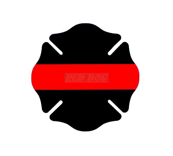 Line Drawing Maltese Cross : Georgia fire gear redline identifier sticker maltese