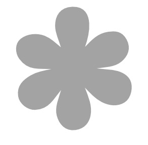 Five Petal Flower Template - ClipArt Best