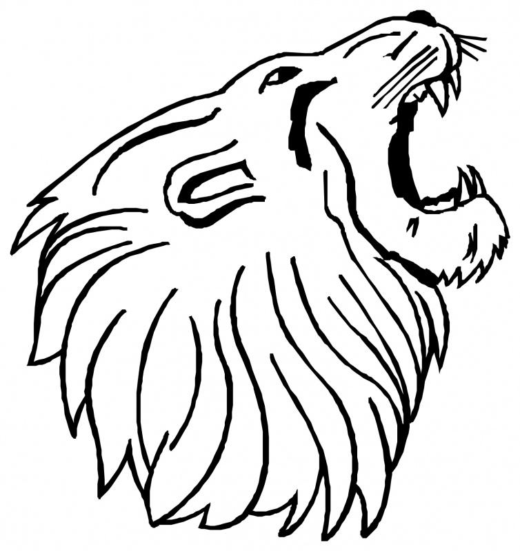 Simple lion head clipart - photo#16