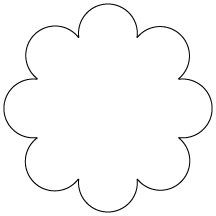 Simple Flower Cut Out Pattern ClipArt Best