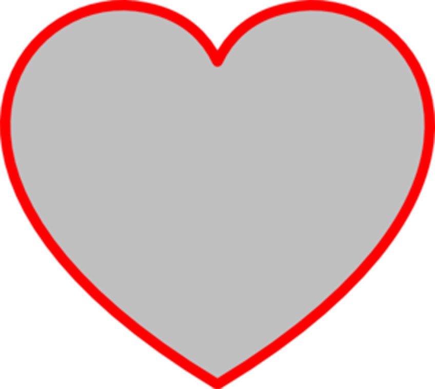 free clipart heart template - photo #37