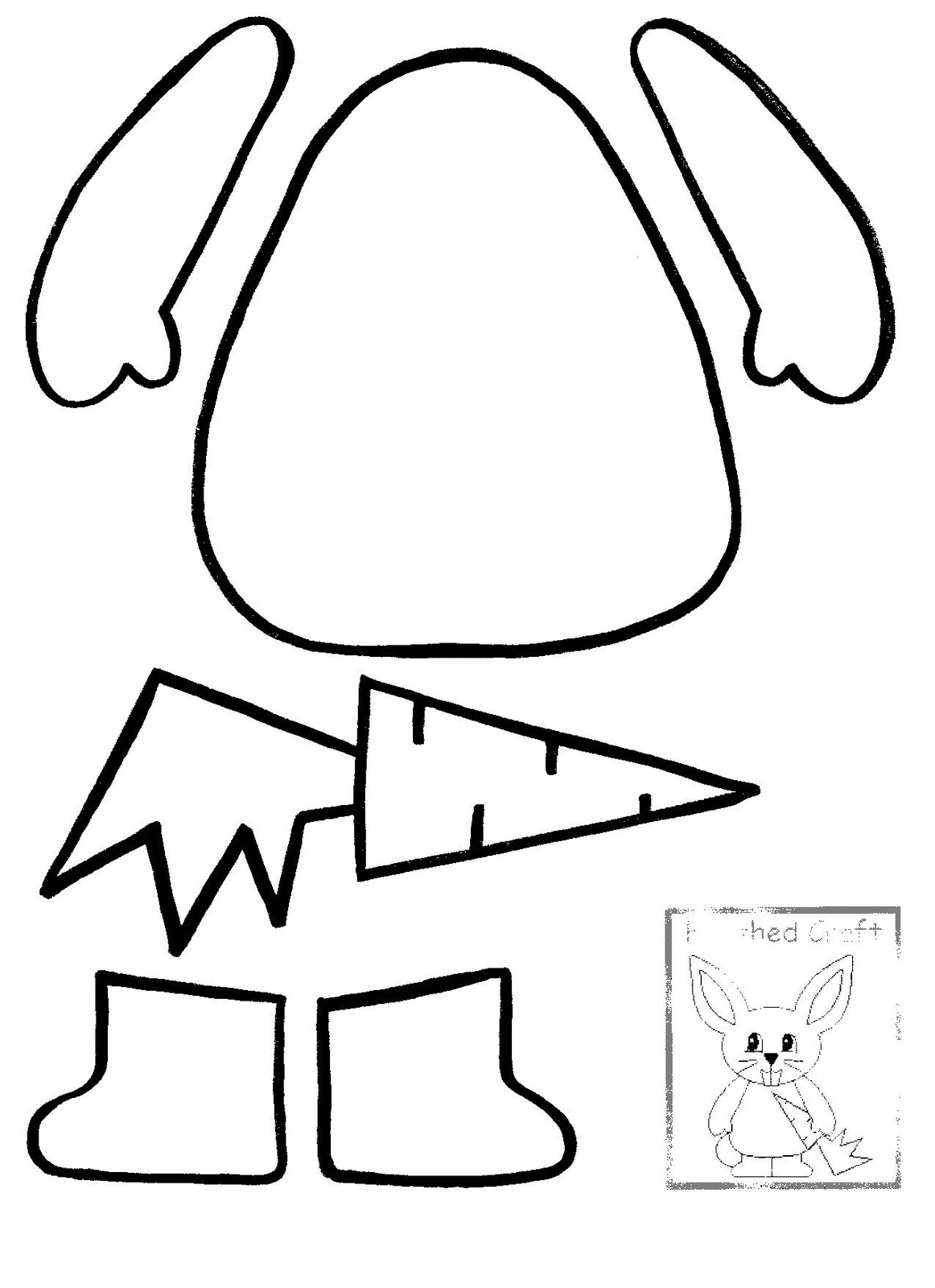 Images of Easter Bunny Outline - Jefney
