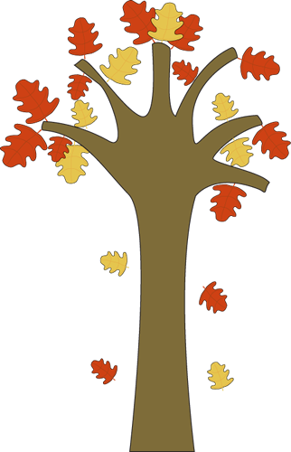 Tree With Falling Leaves Clipart