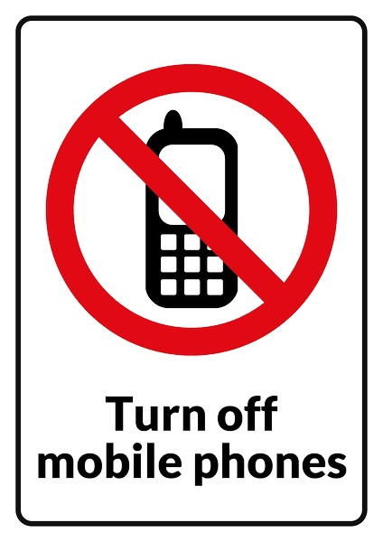 No mobile phone clipart