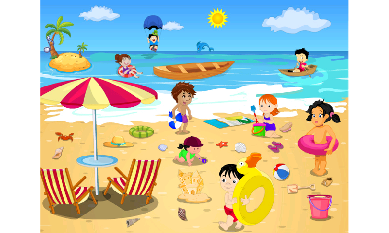 Kids Beach Clip Art Beach clip artKids Playing On The Beach Clipart
