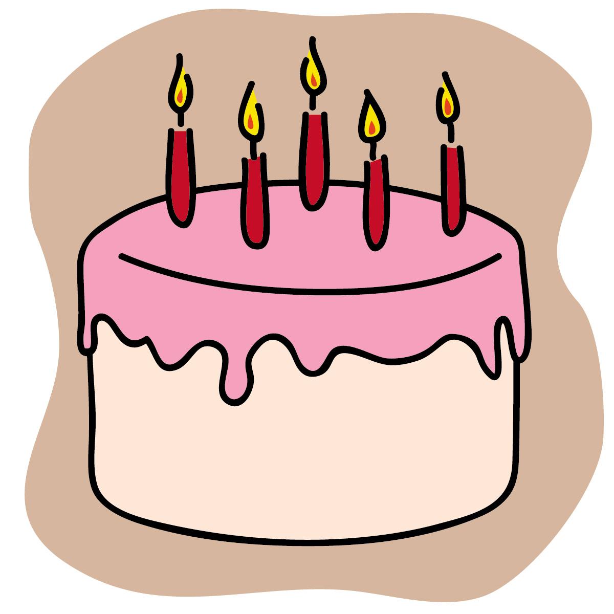 Happy Birthday Cartoon Cake - ClipArt Best