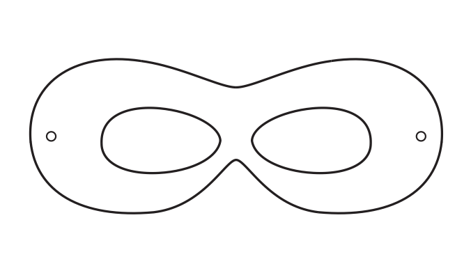 Superhero mask template printables clipart best for Children s mask templates