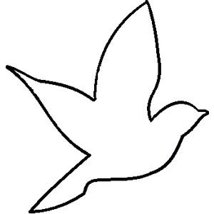 Bird Outline | Bird Template, Bird ...