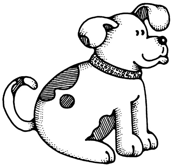 Dogs Black And White Clipart Dog Black And White