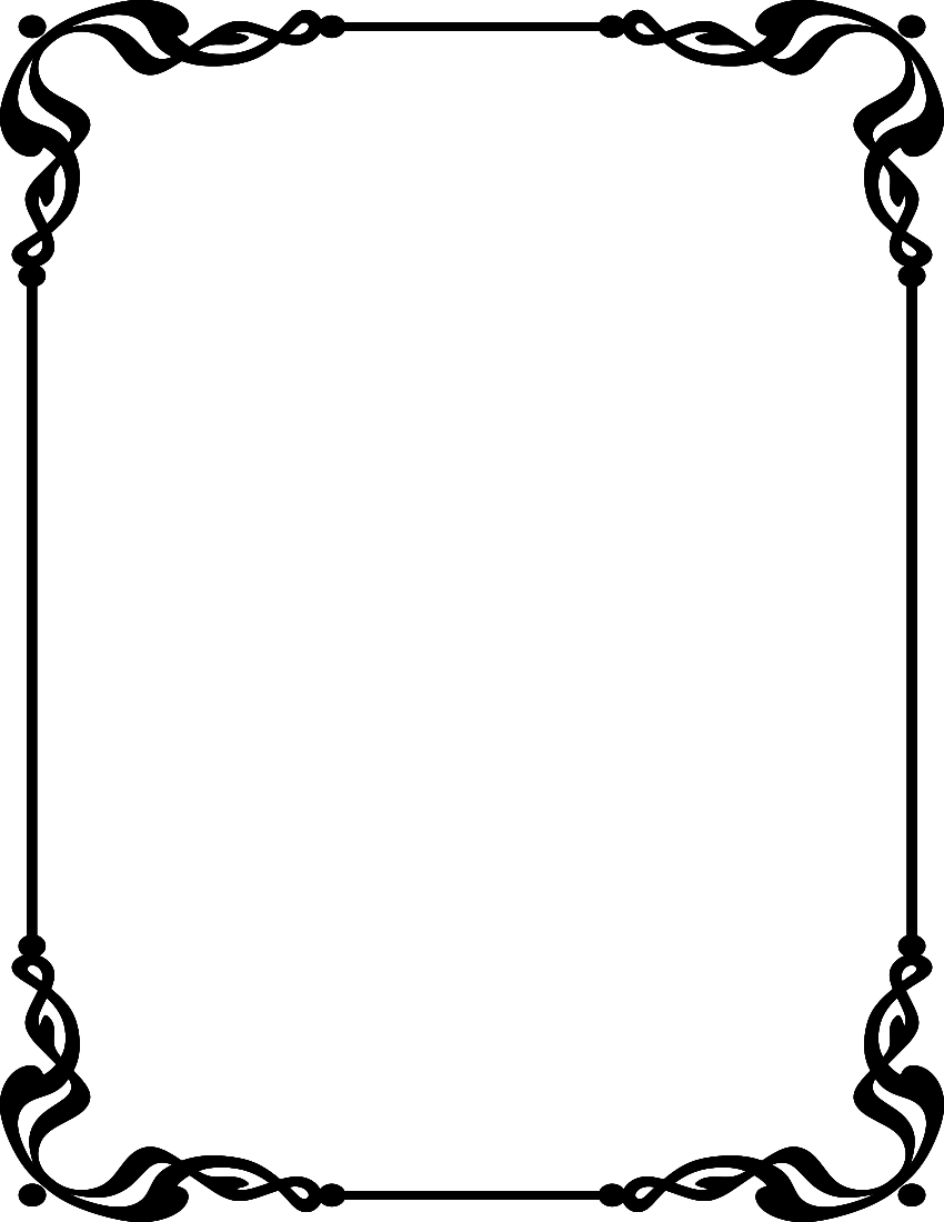 Simple borders clip art