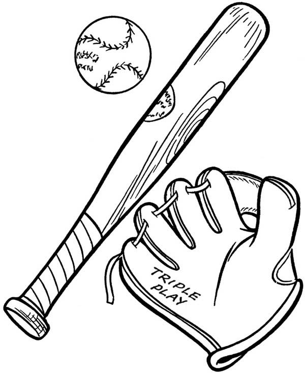baseball glove coloring pages - photo#30