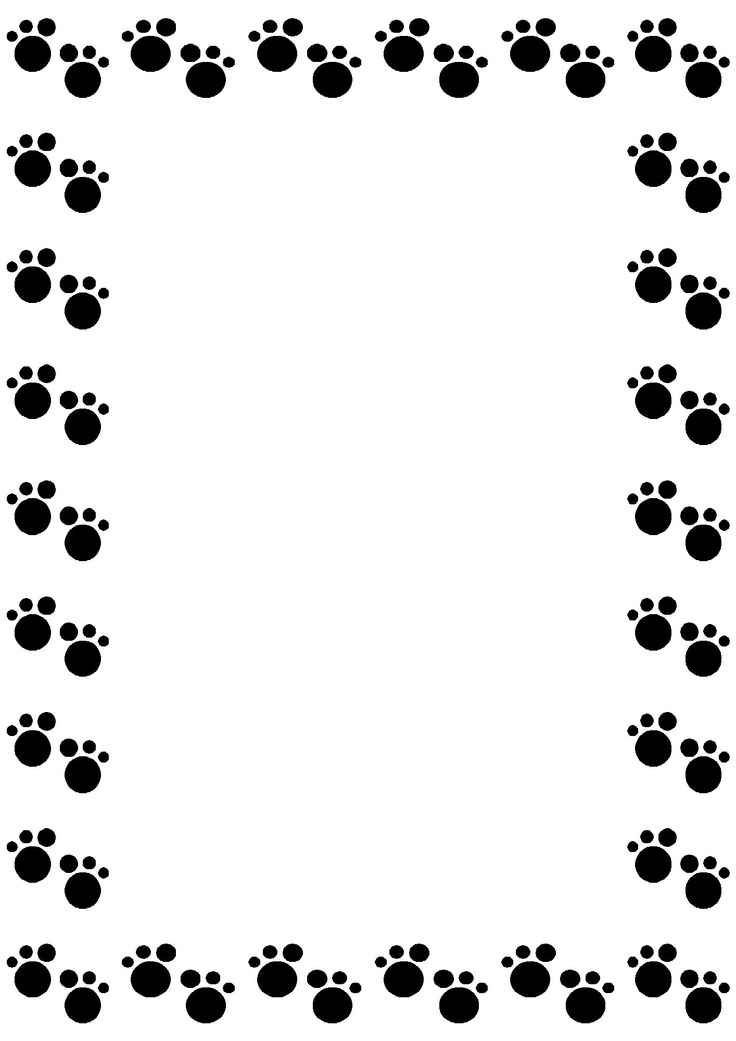 Free Animal Paw Borders - ClipArt Best