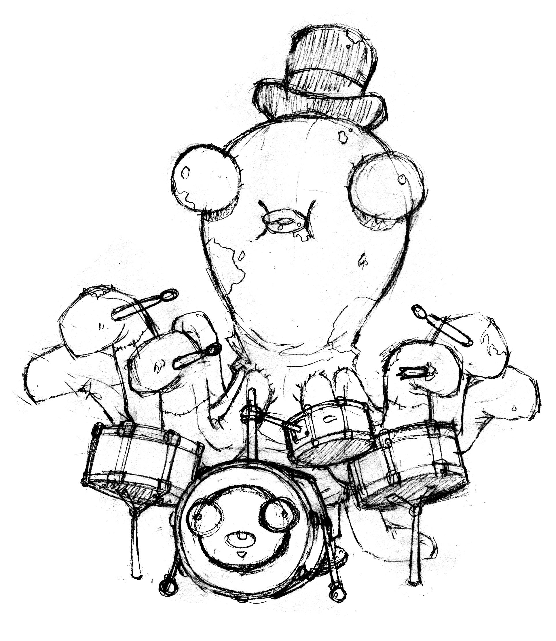 Line Art Octopus : Octopus line drawing clipart best