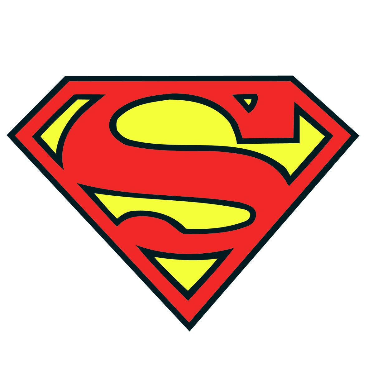 Superman logo template clipart best for Superman template for cake