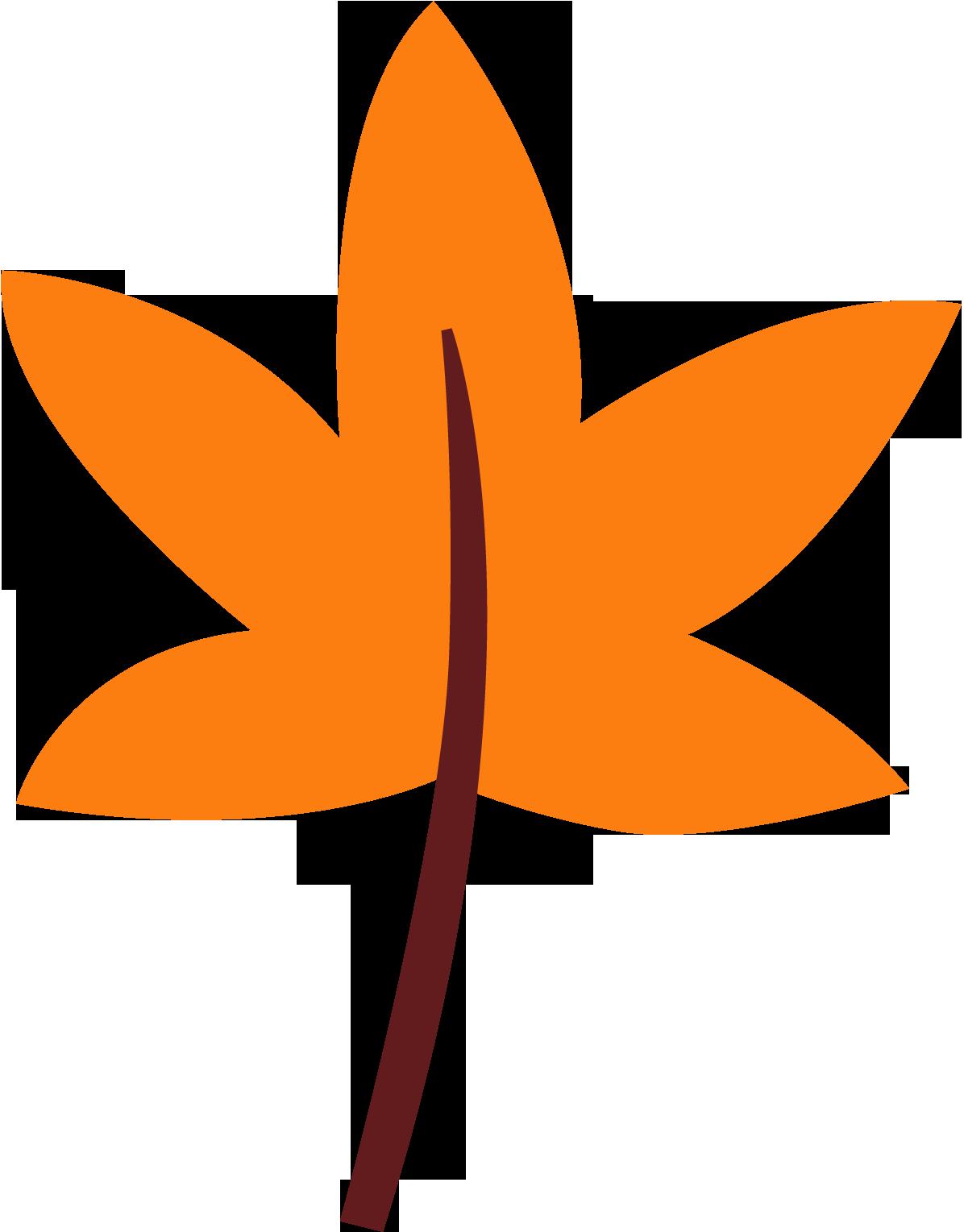 orange leaf clip art - photo #31