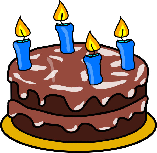 Clipart Of Birthday Cake With 66 Candles
