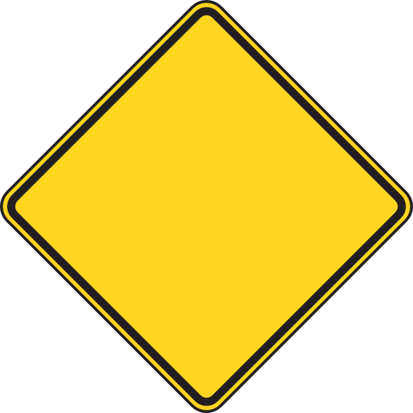 Blank Warning Sign - ClipArt Best