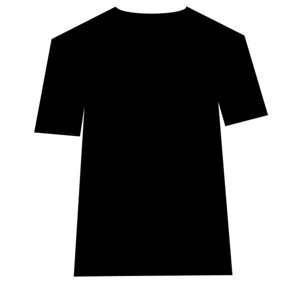 t shirt shape clipart - photo #44