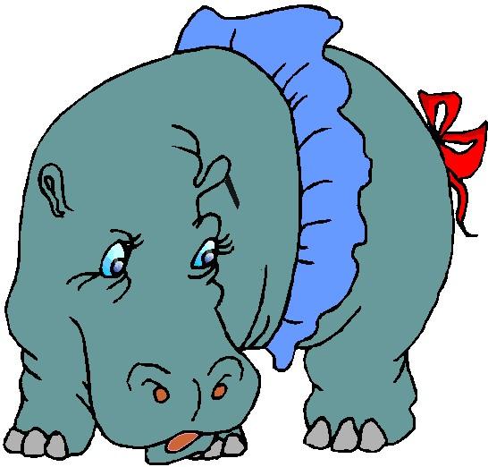 free clip art hippo cartoon - photo #29