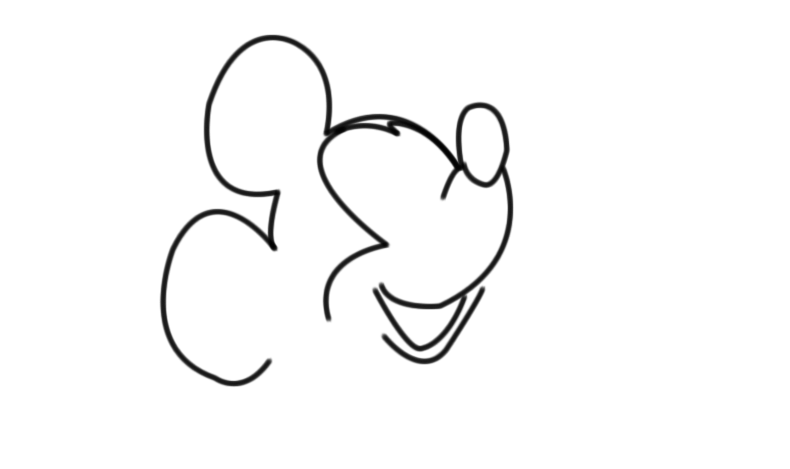 how to draw mickey mouse images