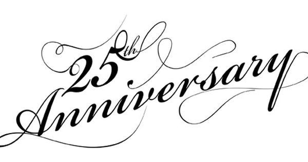 Happy Wedding Anniversary 25th - ClipArt Best