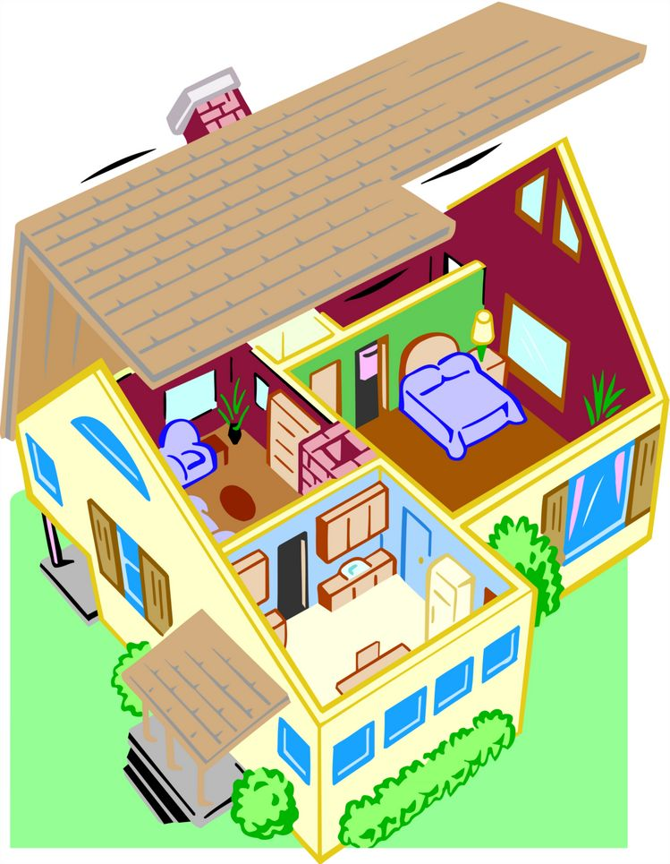 Picture Perfect House Images Of Cartoon Houses Clipart Best