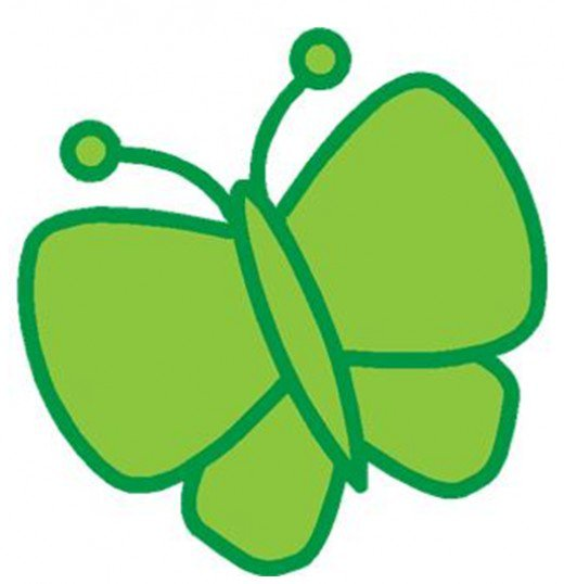 Jpg To Line Art Converter Free Download : Free clipart green butterfly best