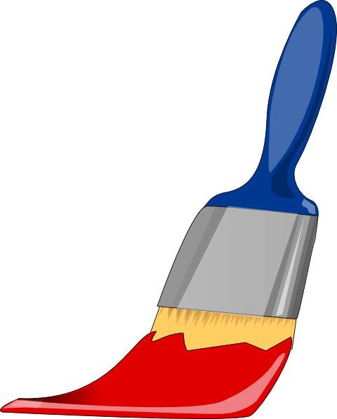 Paint Brush Blue And Red clip art - vector clip art online ...
