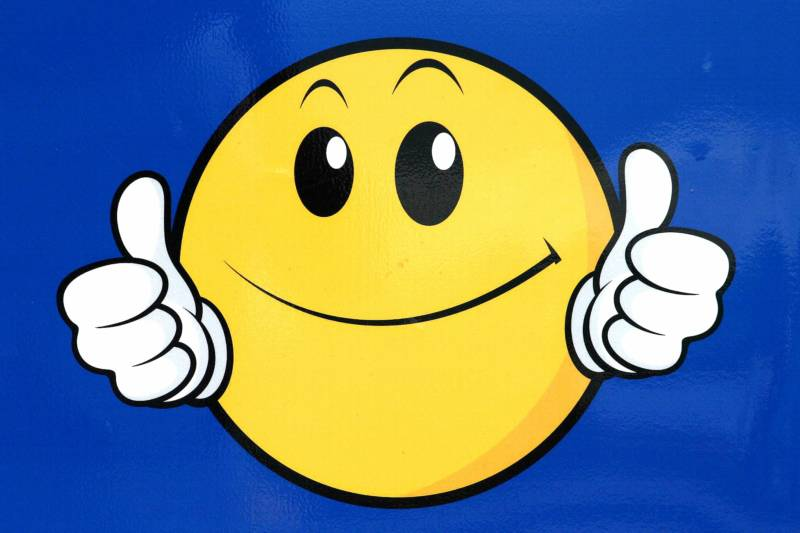 Smiley Face With Mustache And Thumbs Up | Free Download Clip Art ...