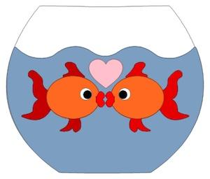 Kissing Fish Cartoon - ClipArt Best