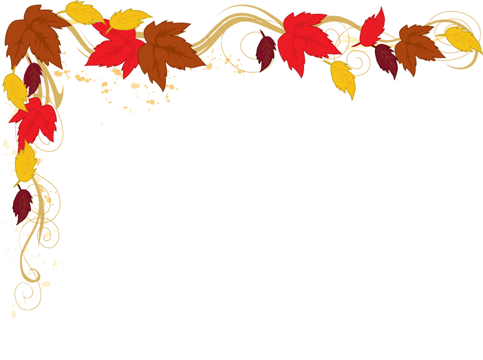 Fall border autumn fall leaves clipart free images
