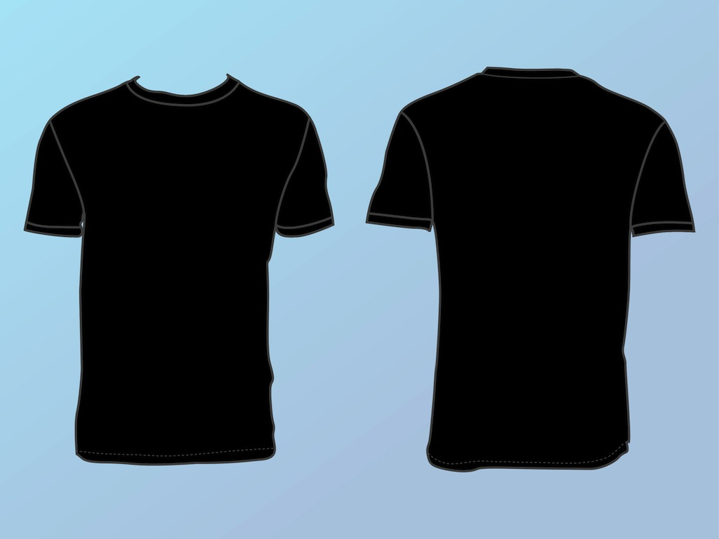 black t shirts template - photo #34