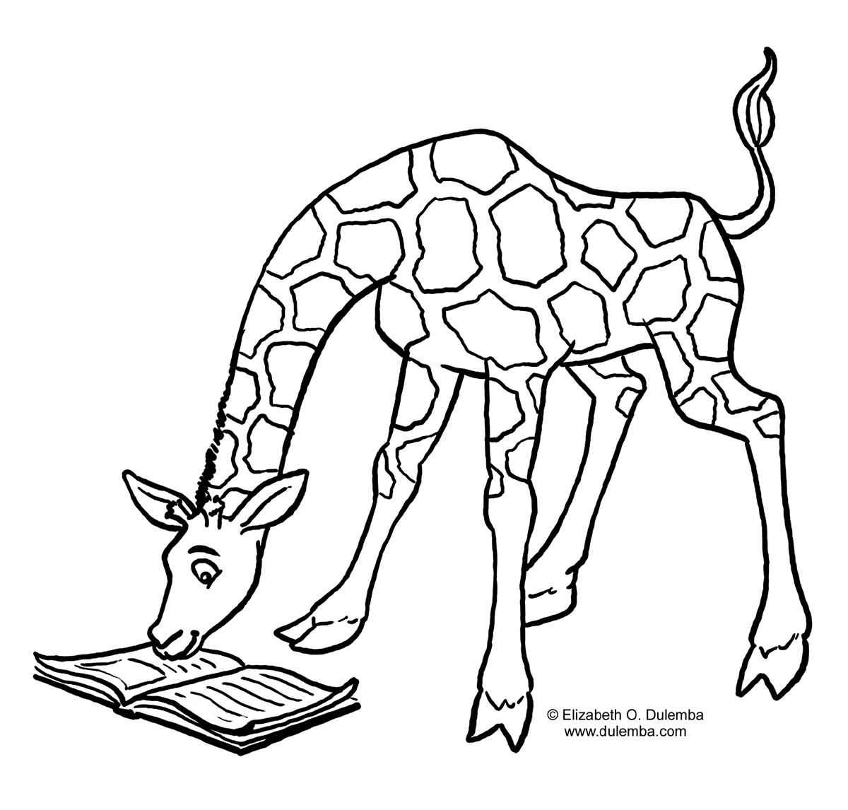 Line Art Giraffe : Giraffe line drawing clipart best