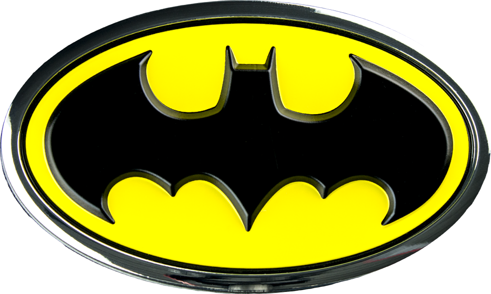 Batman - Batman Classic Logo Chrome, Black and Yellow Premium Fan ...