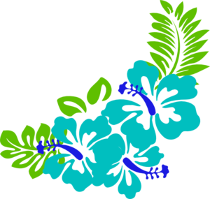 Tropical flower clipart illustration image
