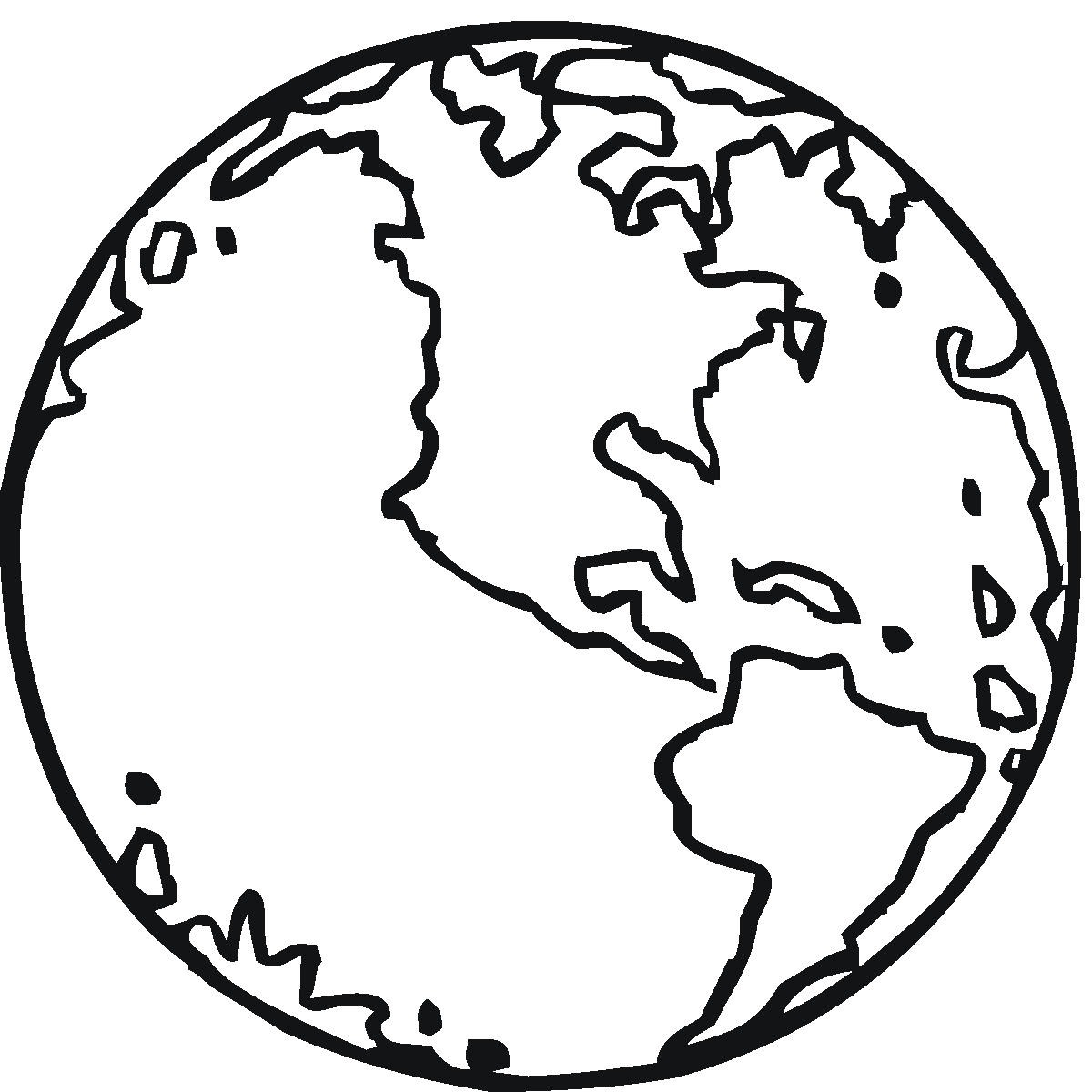 Planet Earth Coloring Sheet Page 2
