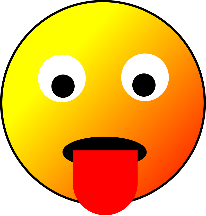 Clipart - Tongue smiley ...