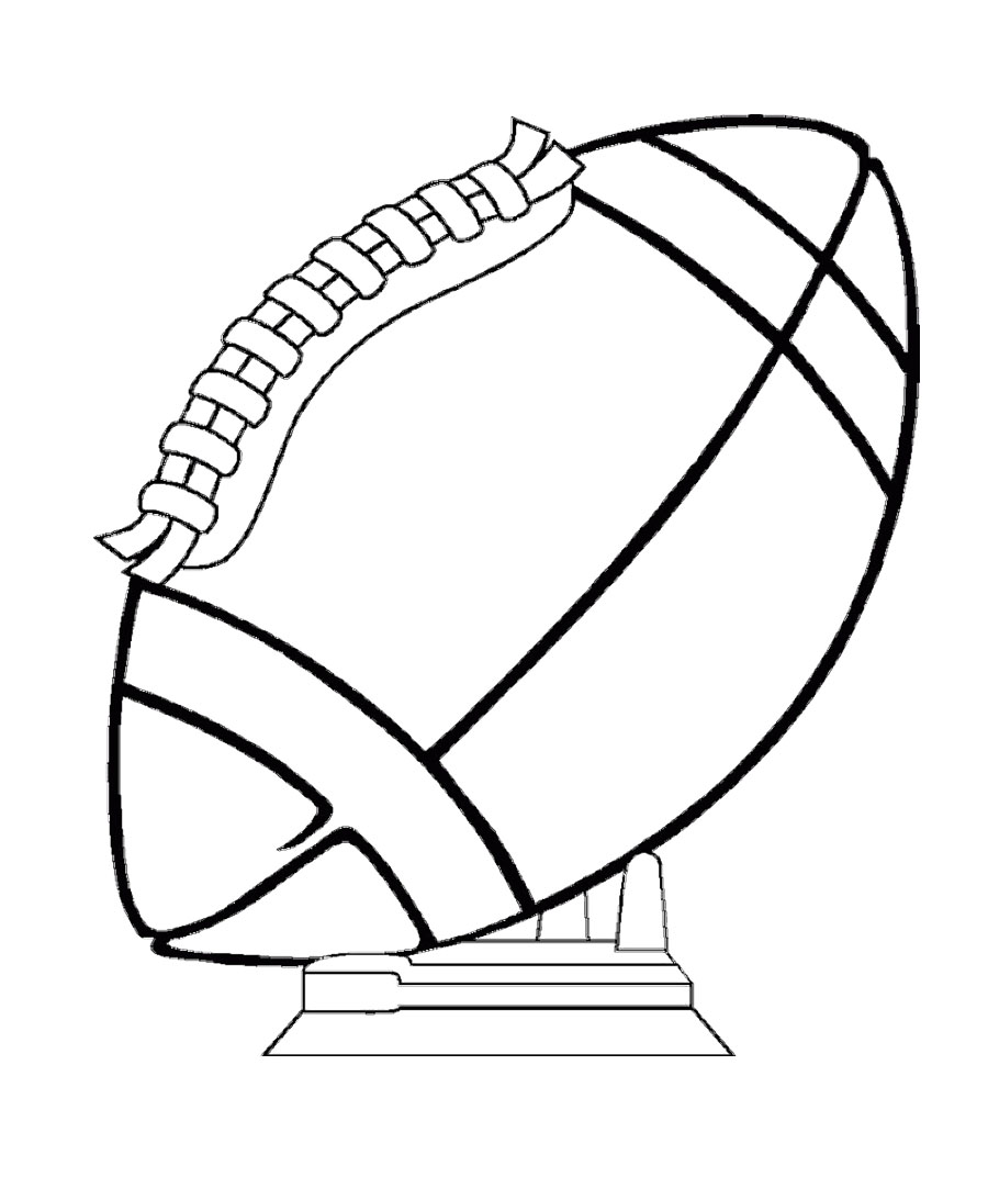 Football Coloring Pages: Football Ball Coloring Pages
