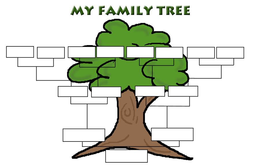 Simple Family Tree Template - ClipArt Best