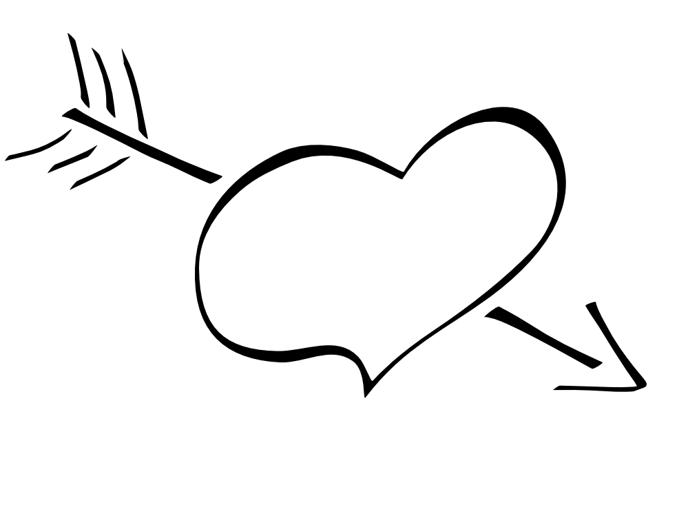Heartbeat Line Art : Heart line drawing clipart best