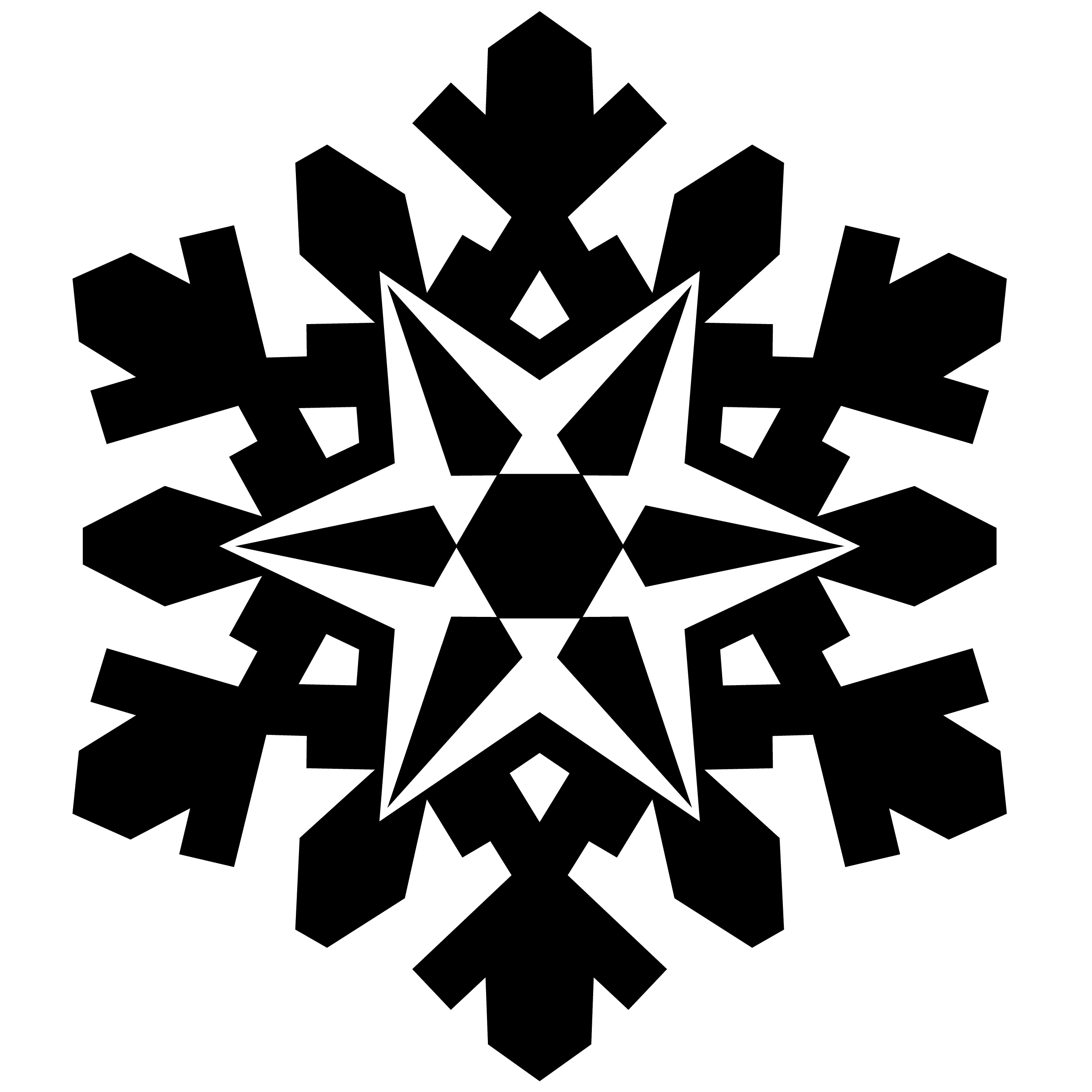 52 Snowflakes Vectors  Silhouette and Photoshop Brushes for    White Snowflake Vector Free Download