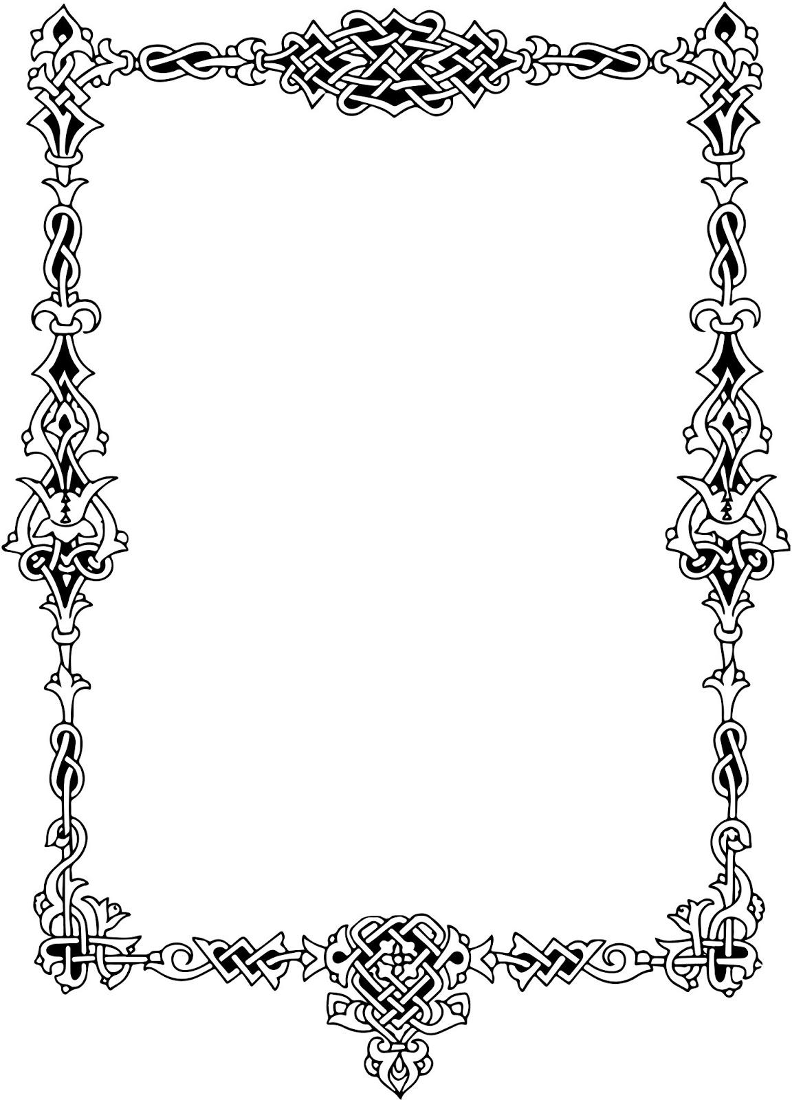 black damask border template
