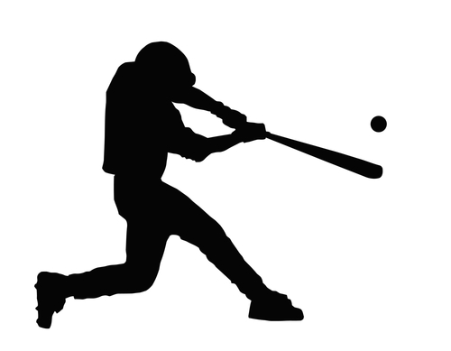 free clipart baseball player silhouette - photo #12