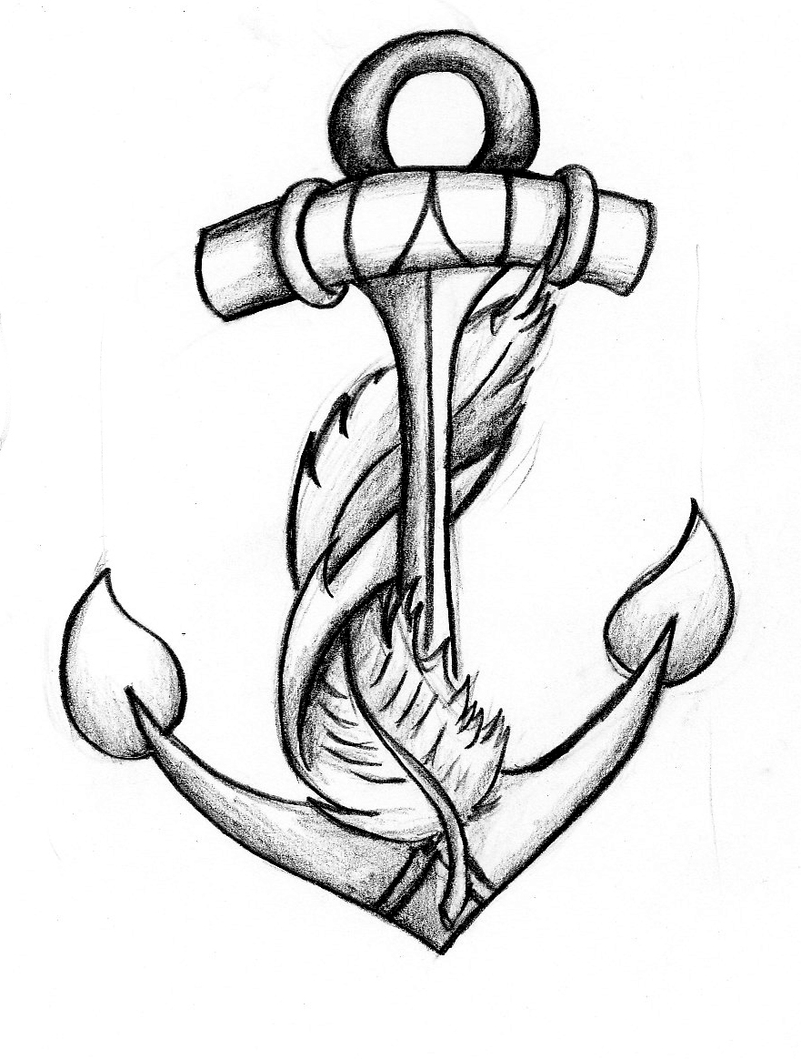 Anchor Tattoo Line Drawing : Anchor designs clipart best